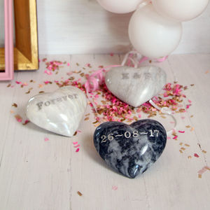 Heart Marble Personalised Pebble - home accessories
