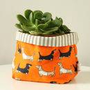 Dachshund Canvas Storage Pot