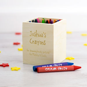 Personalised Childrens Crayon Pot - desk accessories