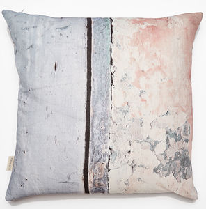 *New* Coastal Inspired Textured Linen Cushion - bedroom