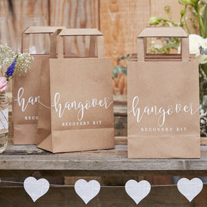 Kraft Hangover Cure Wedding Afterparty Party Bags - wedding favours