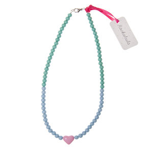 Colour Block Heart Necklace - children's jewellery