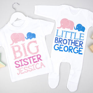 Personalised Big Sister Little Brother Set - clothing