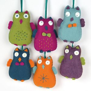 Happy Owls Felt Craft Kit