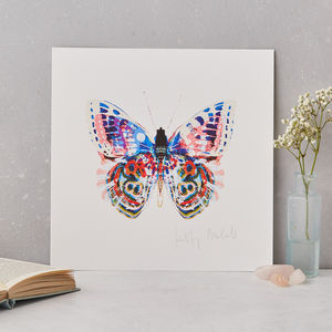 Flamingo Butterfly Fine Art Print