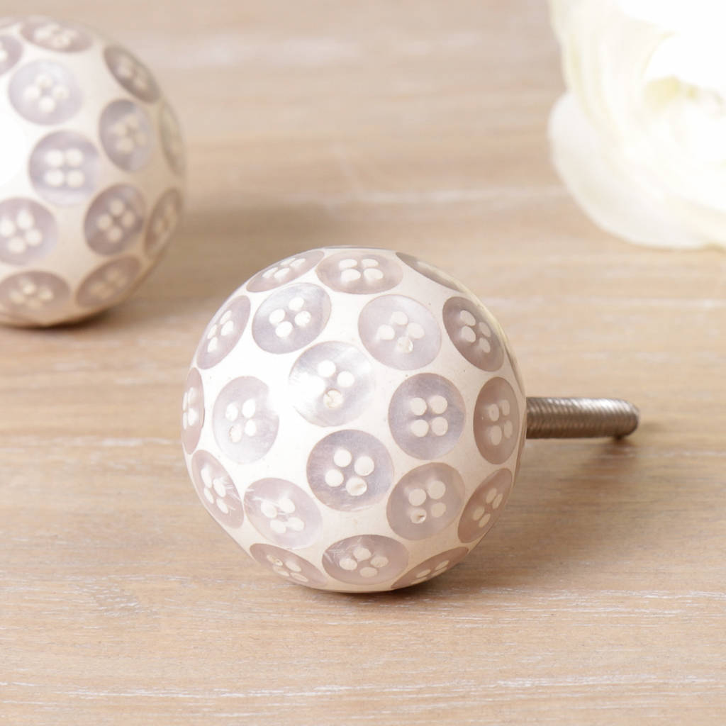 Pearl Button Drawer Pull