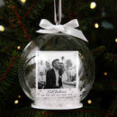 Couple's Photo Memory Bauble