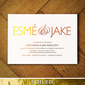 Pure Foiled Wedding Invitations - invitations