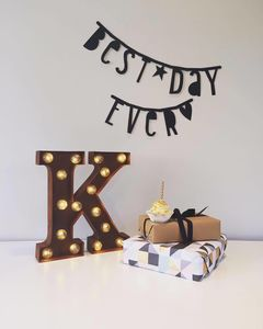 Carnival Letter Lights 'A To Z' Rust - decorative accessories