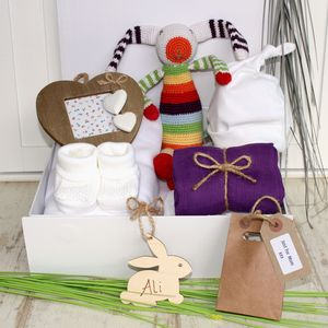 Crochet Bunny And Booties Baby Hamper - gift sets