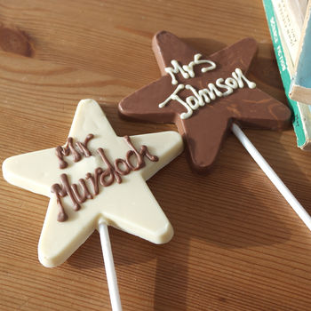 Chocolate Star Personalised Lolly