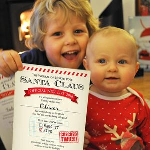 Personalised Nice List Certificate From Santa - cards