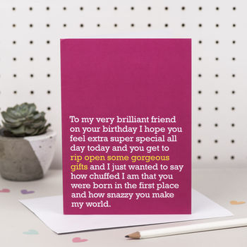 'Rip Open Some Gorgeous Gifts' Birthday Card