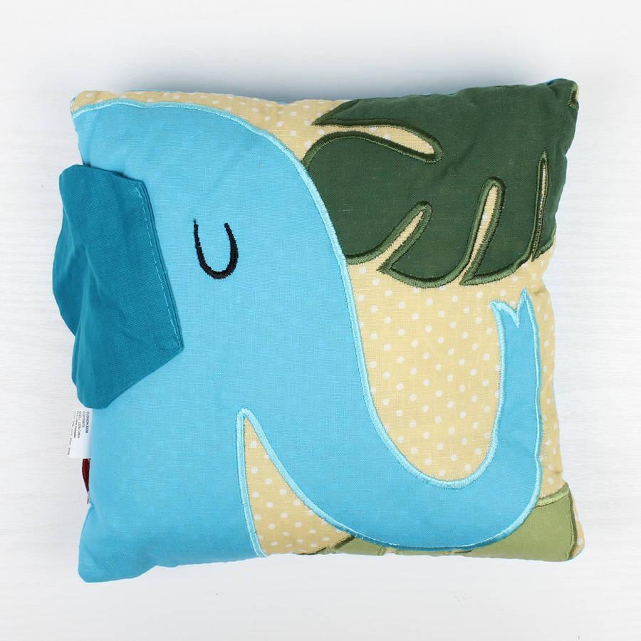 Jungle Elephant Filled Cushion