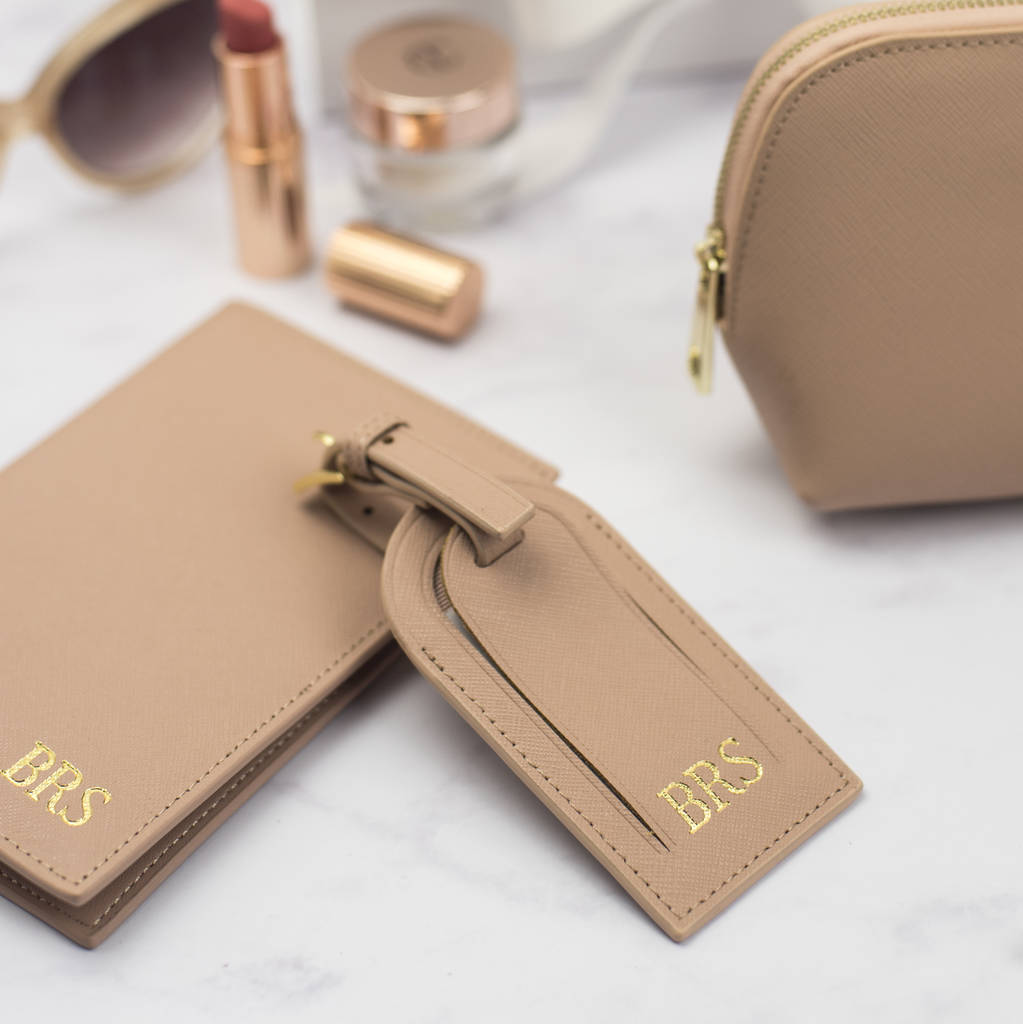 e85991fbab05 personalised leather travel accessories set by studio seed ...