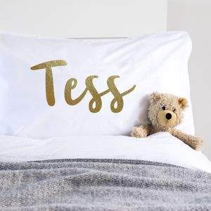 Metallic Gold Personalised Pillowcase - what's new
