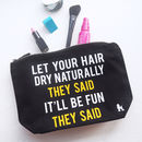 Natural Hair Make Up Bag
