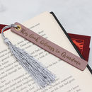 Personalised Italian Leather And Silk Bookmark