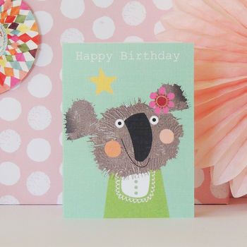 Happy Birthday Fluffus Koala Mini Card
