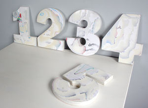 Children's Bespoke Wall Number Birthday Cards