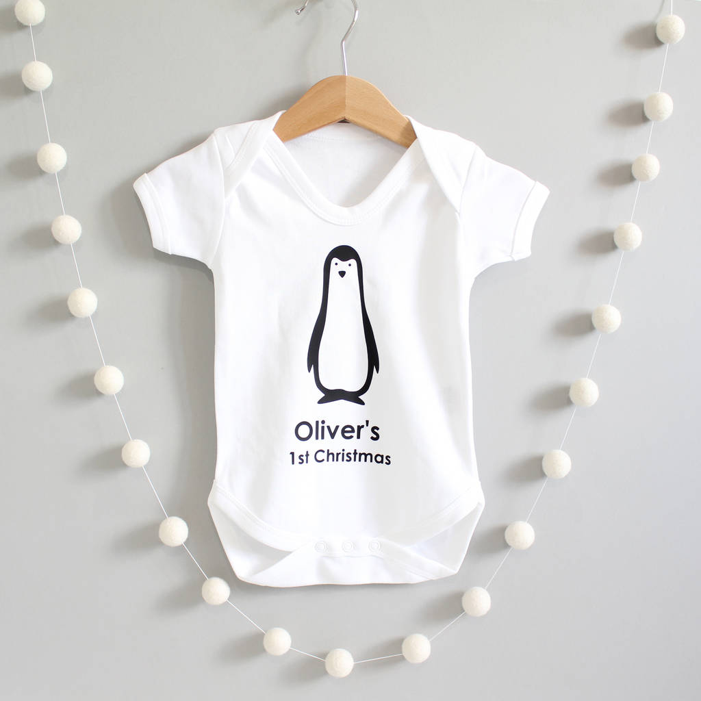 Penguin 1st Christmas, Baby Grow