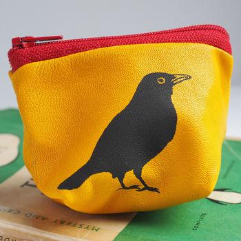Small Blackbird Leather Coin Purse