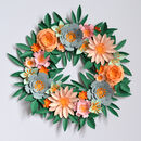 Paper Flower Wreath Craft Kit