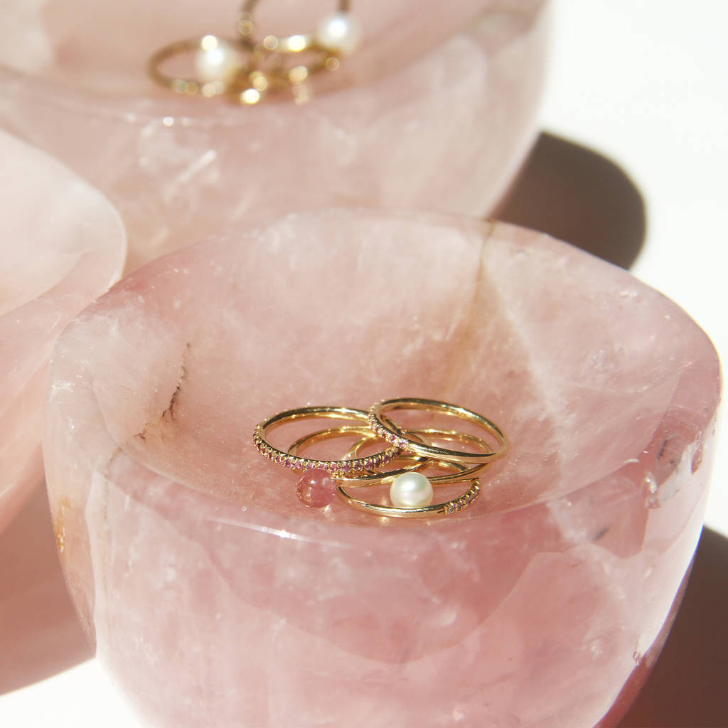 rose quartz ring dish by xissjewellery | notonthehighstreet.com