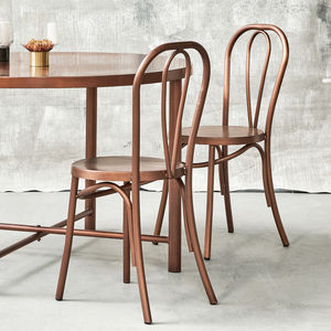 Retro Metal Dining Chair In Brass - furniture