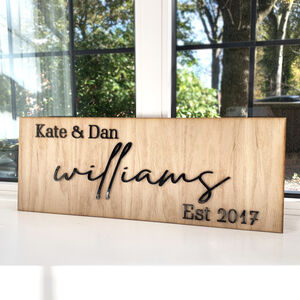 Personalised Couples Wooden Sign