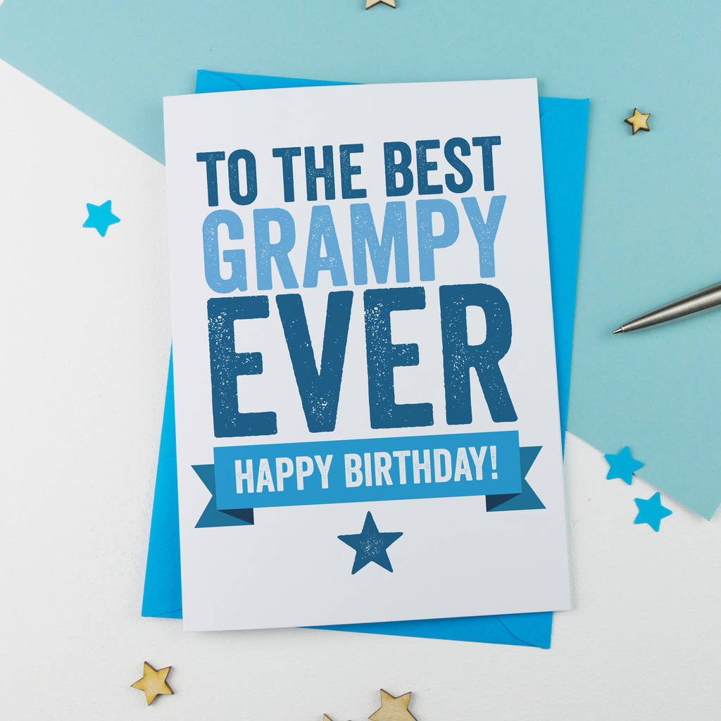 Birthday Card For Grampy Grandad Gramps By A Is For Alphabet