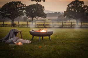 Steel Fire Pits Available In Three Sizes