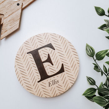 Personalised Monochrome Wooden Name Sign