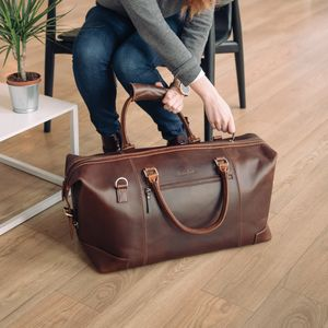 Leather Holdall Weekend Bag 'Aviator' - 40th birthday gifts