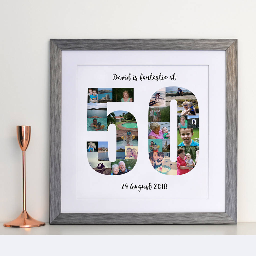 personalised 50th birthday photo collage by a type of design ...