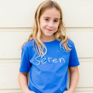 Personalised Child's Handwritten Name T Shirt