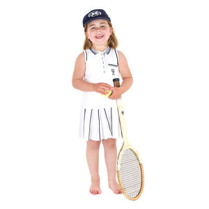French Girl's Tennis Dress With Pleated Skirt - dresses