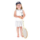 French Girl's Navy Trim Tennis Dress