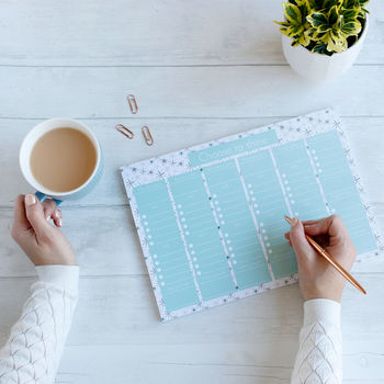 Choose To Shine To Do List Weekly Planner And Desk Pad