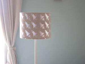 Silver Space Rocket Lampshade - lamp bases & shades