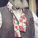 Bright Pink Floral Self Tie Bow Tie