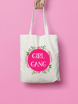 Girl Gang Bridesmaid Hen Tote Bag