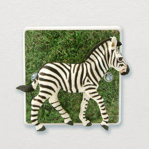 Zebra Bedroom Or Lounge Light Switch - children's room
