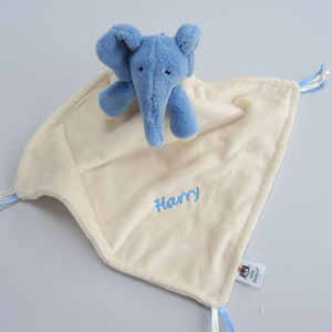 Personalised Bedtime Elephant Comforter Blanket - gifts for babies