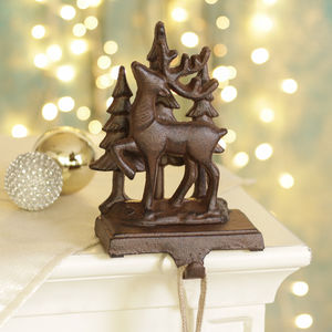 Woodland Reindeer Stocking Holder
