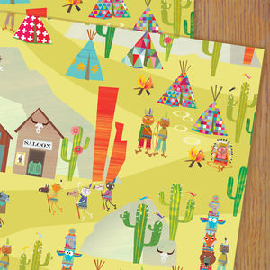 Cowboy Gift Wrap - wrapping paper