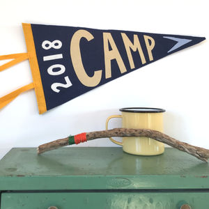 Personalised Camp Pennant - for little adventurers