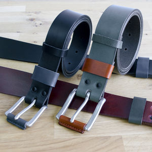 Leather Belt - personalised gifts