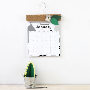 2017 Calendar With Pinboard Topper - planning & organising
