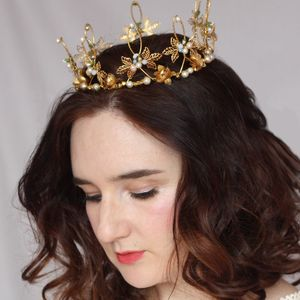 Gold Ethereal Style Crown - wedding fashion